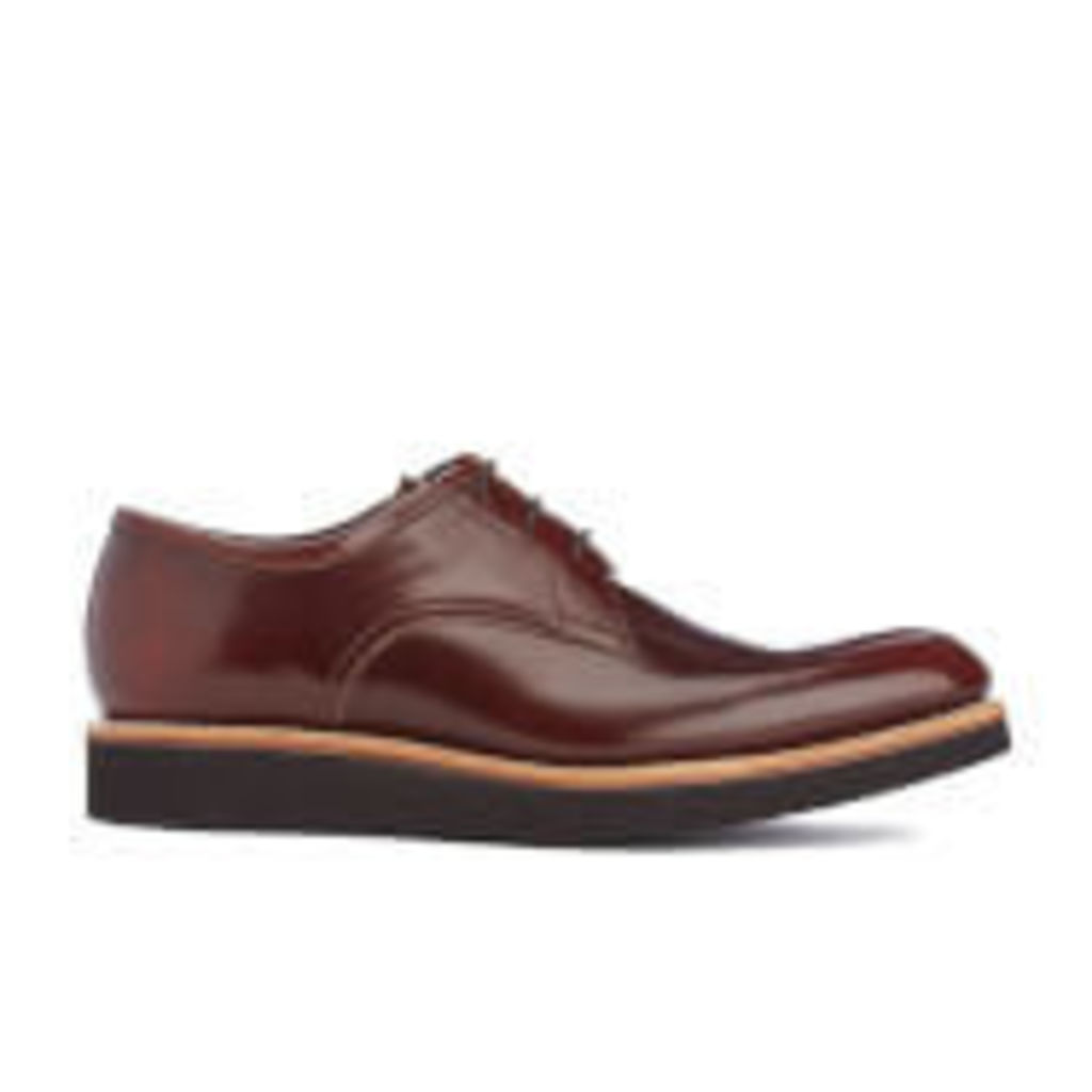 Grenson Men's Lennie High Shine Derby Shoes - Honey - UK 11