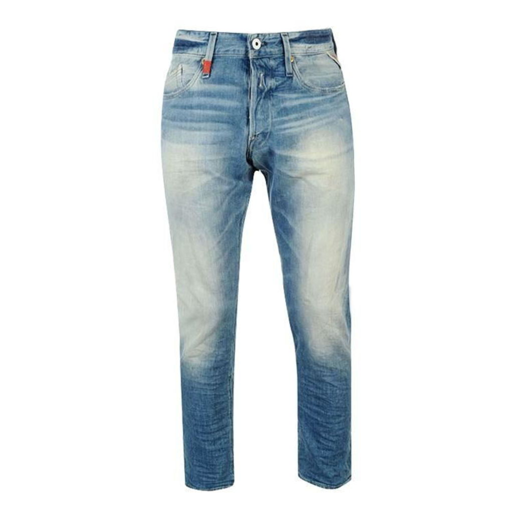 Replay Waitom Mid Rise Mens Jeans