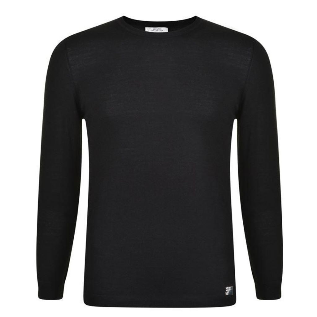 VERSACE COLLECTION Logo Embroidered Crew Knitwear