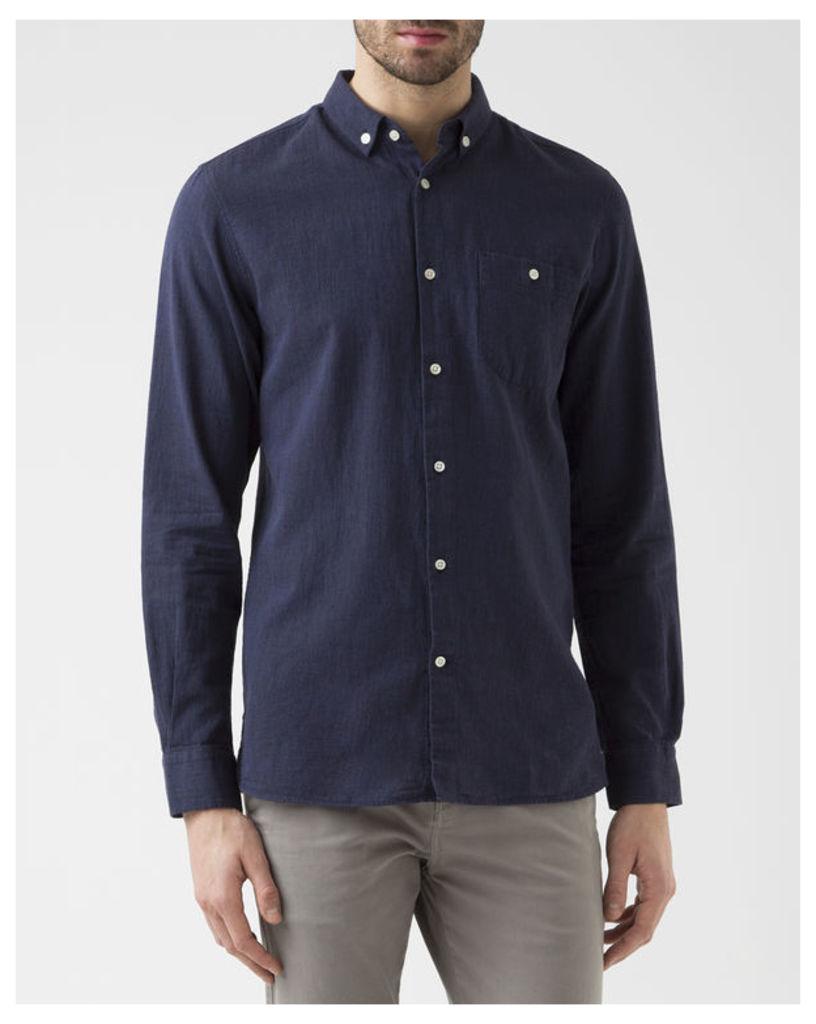 Navy Blue Print Shirt