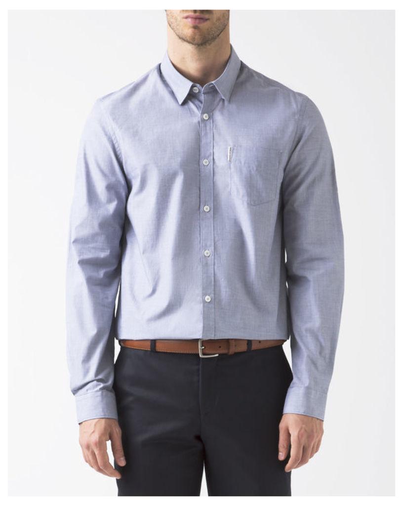 Grey Sharkskin Shirt
