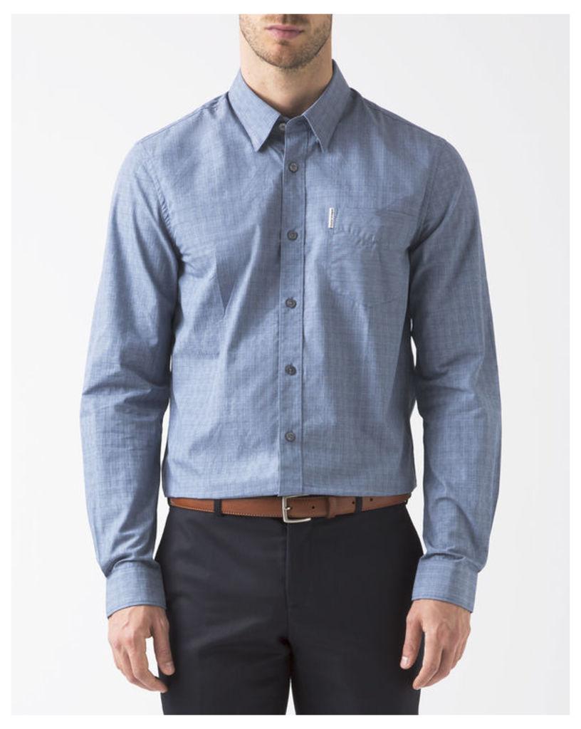Blue Gradient Chequered Shirt