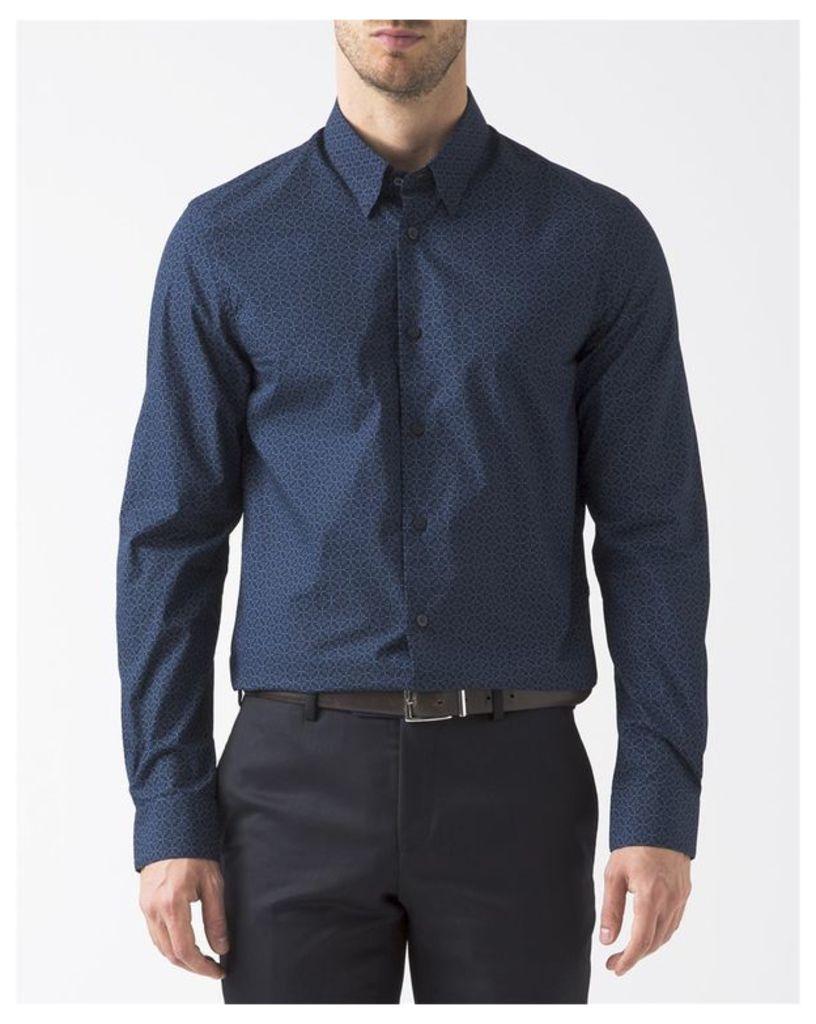 Blue Pattern Shirt