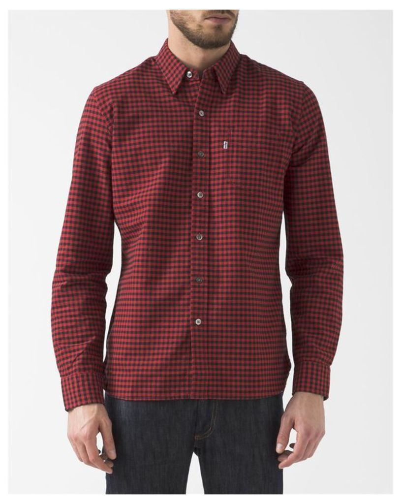 Red Gingham Oxford Shirt