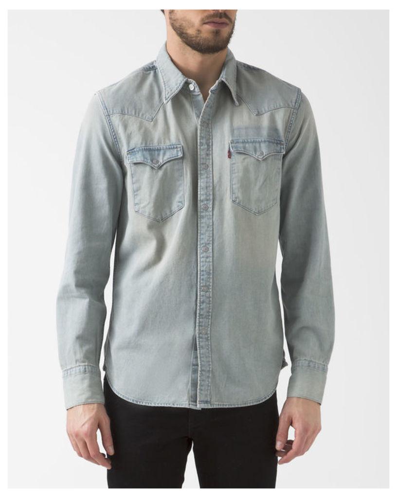 Western Bleached Denim Shirt