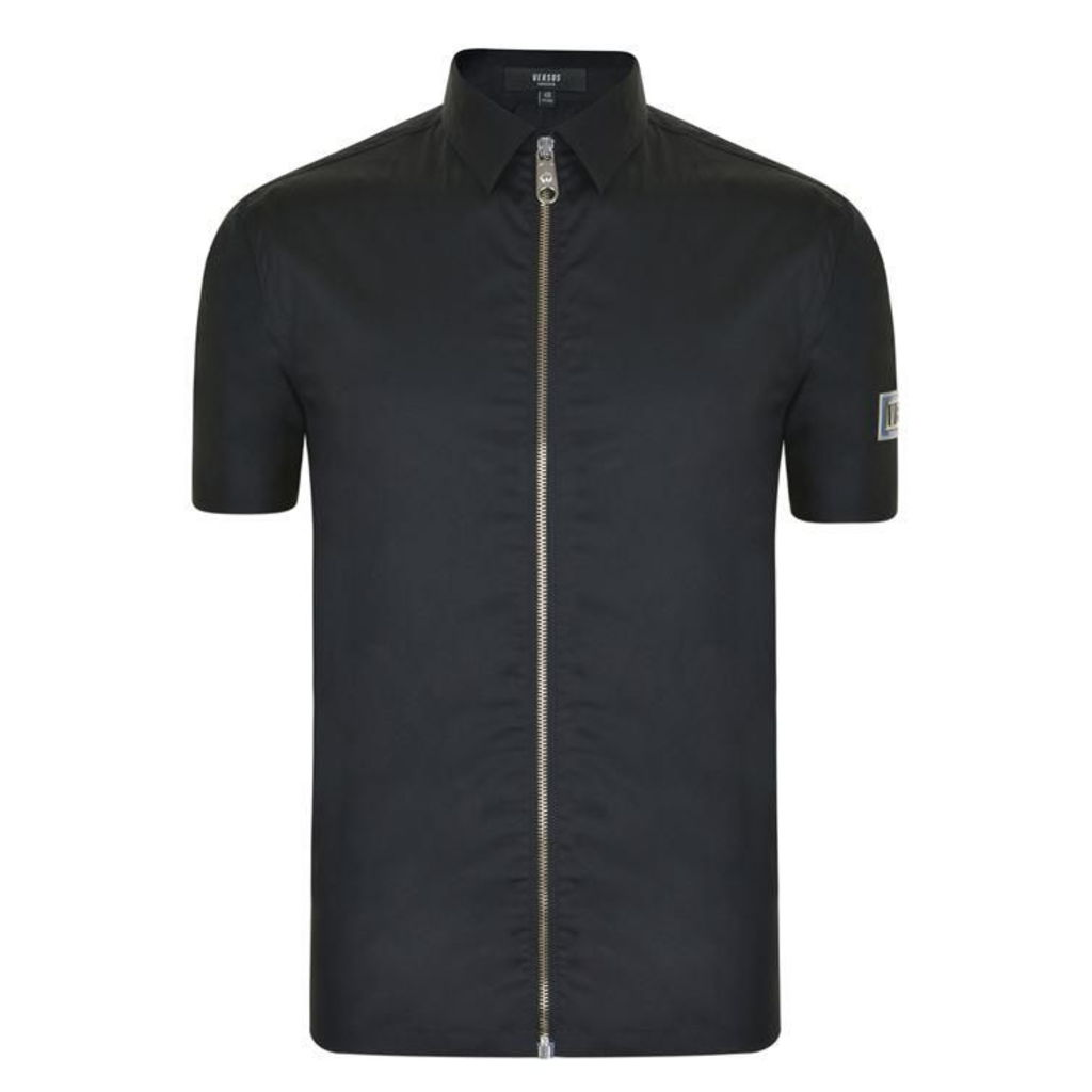 VERSUS VERSACE Short Sleeved Zip Shirt