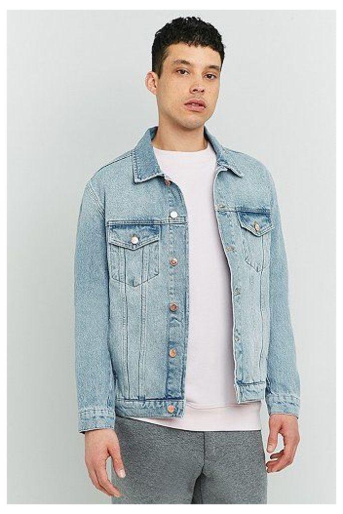 Soulland Shelton Light Blue Denim Jacket, Indigo