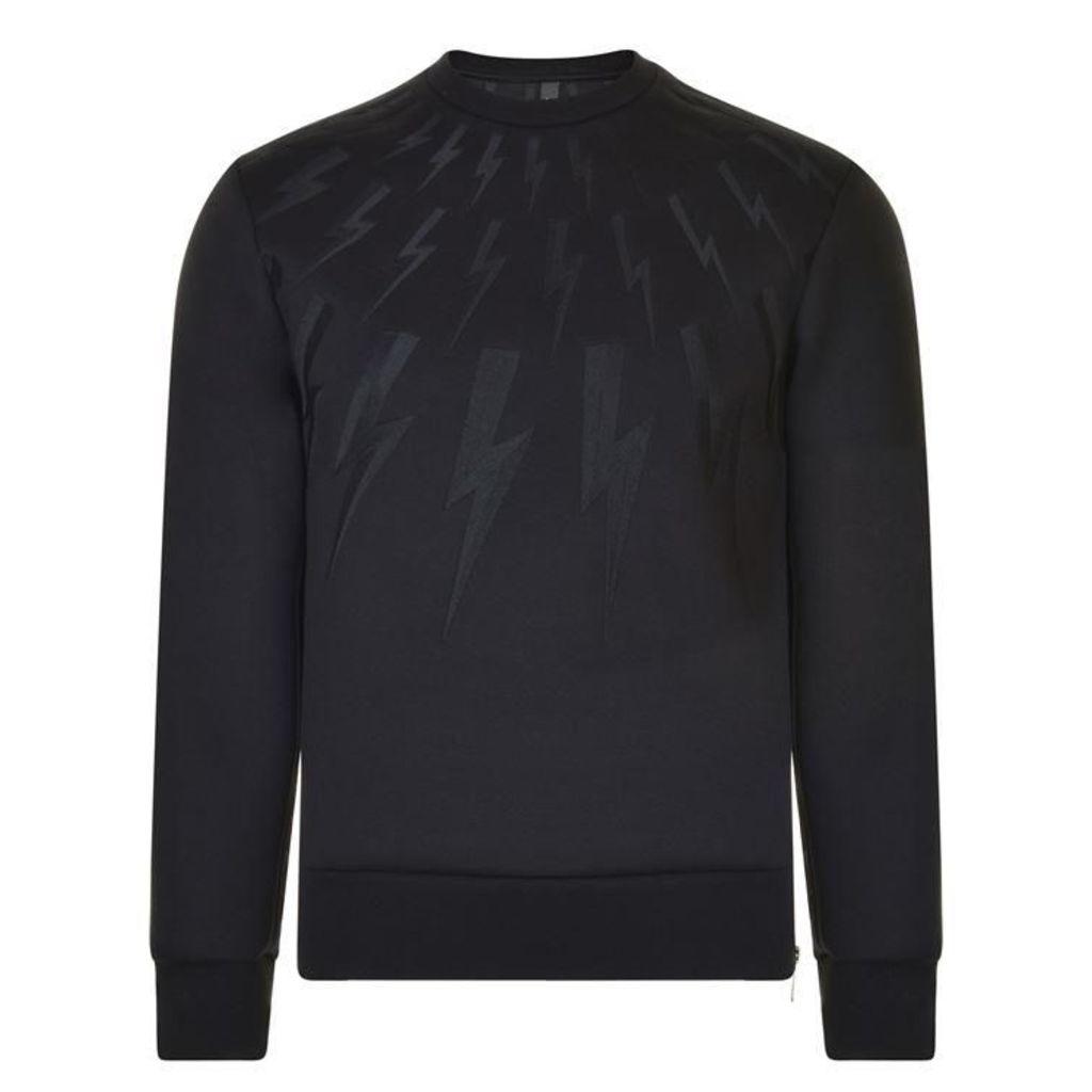 NEIL BARRETT Embroidered Thunderbolt Sweatshirt