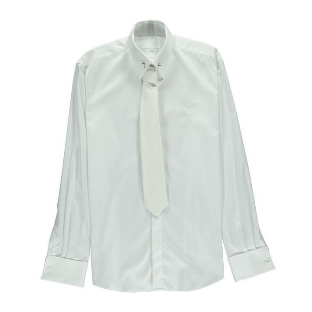 WILLIAM HUNT Collar Pin Shirt And Matching Tie