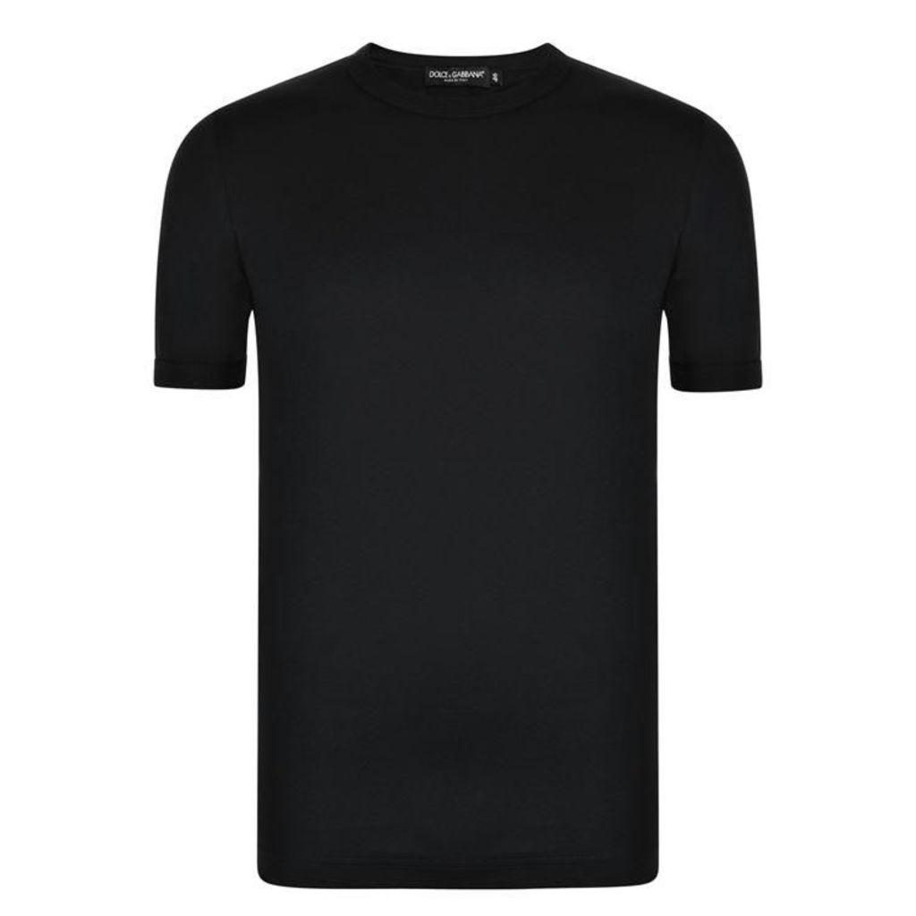 DOLCE AND GABBANA Logo Tab T Shirt