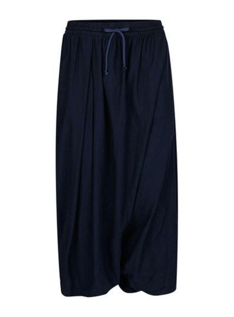 Mens WAVEN Overdyed Blue Harem Trousers*, Blue