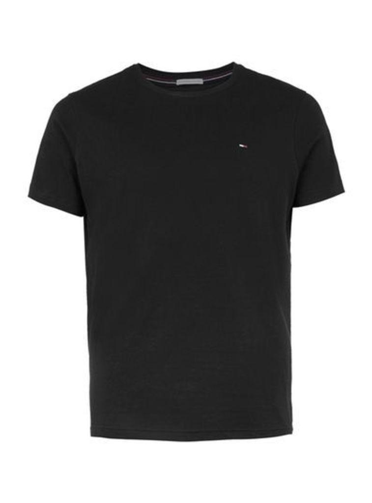 Mens HILFIGER DENIM Black T-Shirt, Black