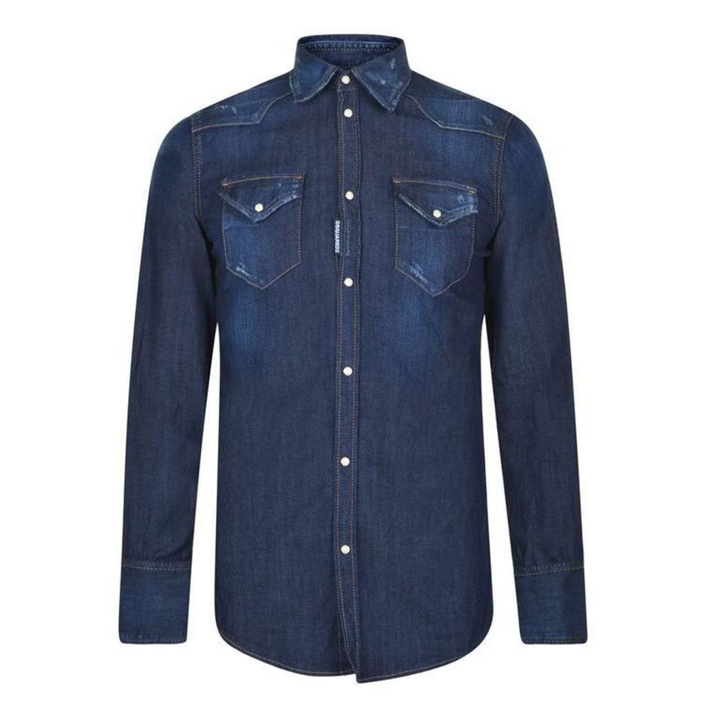 DSQUARED2 Denim Western Shirt