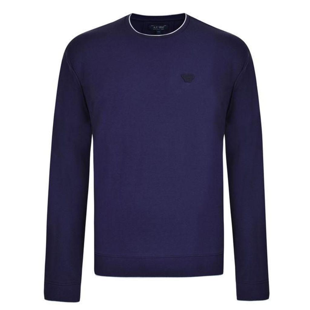 ARMANI JEANS Pique Crew Neck Sweatshirt
