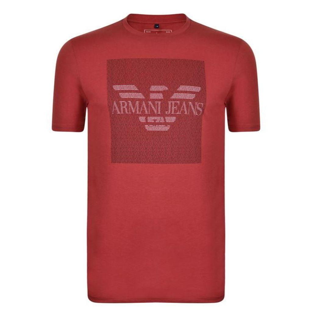 ARMANI JEANS Block Eagle T Shirt