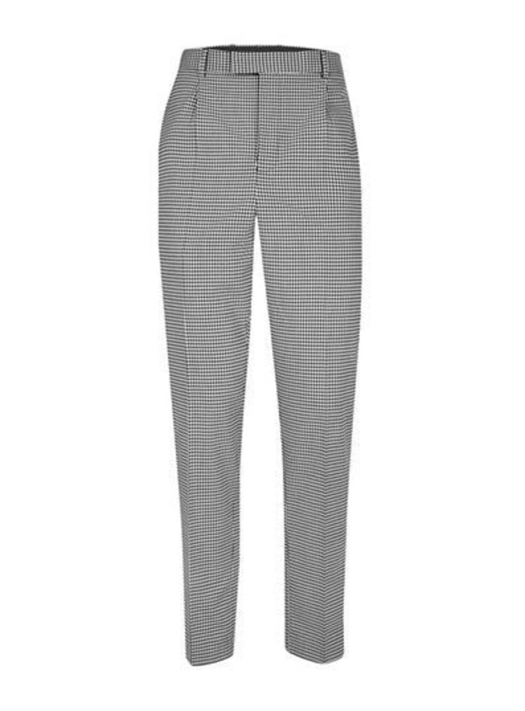 Mens Grey TOPMAN DESIGN Black and White Gingham Smart Trousers, Grey