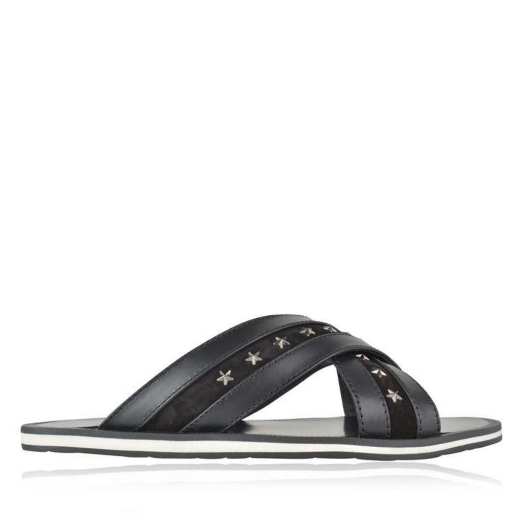 JIMMY CHOO Wally Leather Sliders