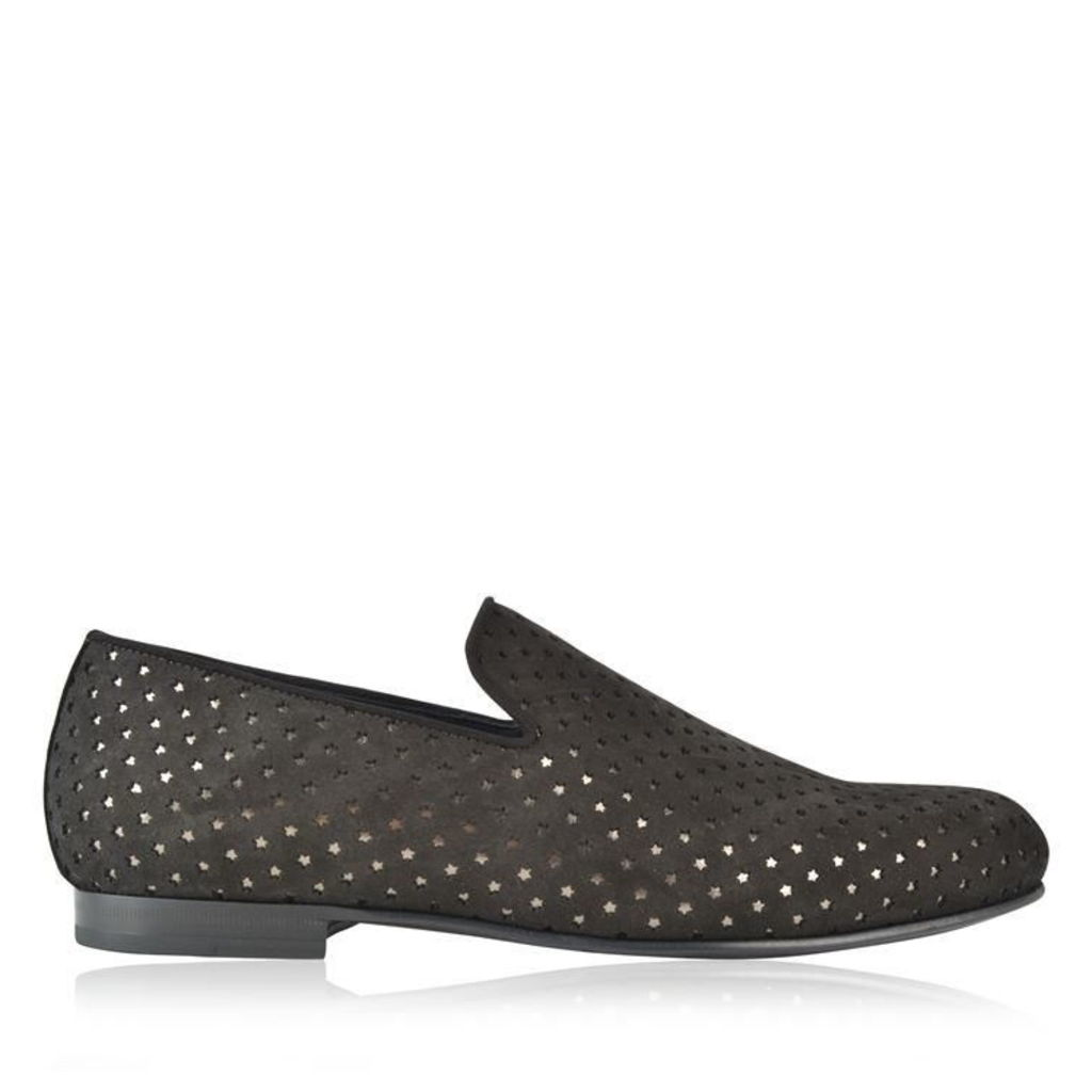 JIMMY CHOO Sloane Perforated Loafers