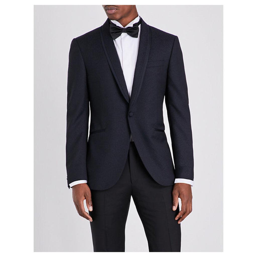 Corneliani Slim-fit wool blazer, Mens, Size: 40, Navy