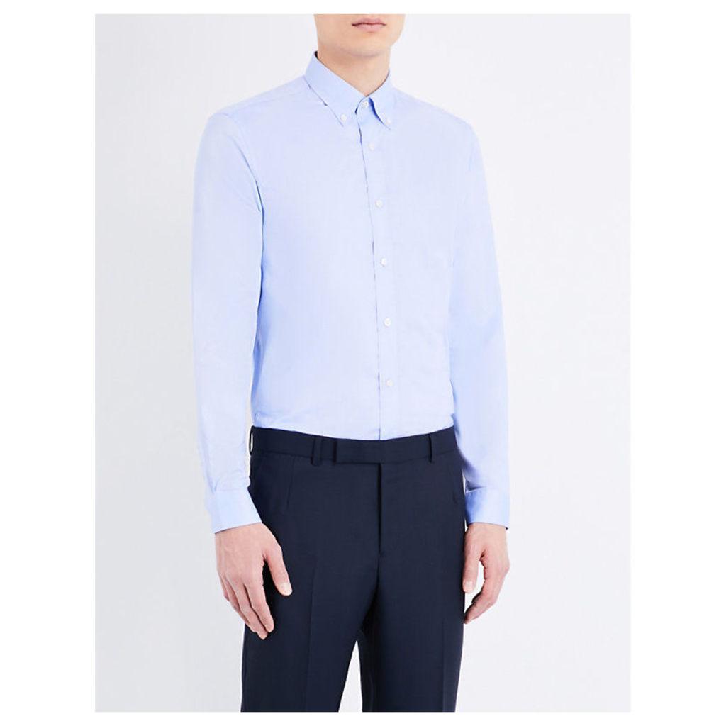 Regular-fit single-cuff cotton Oxford shirt