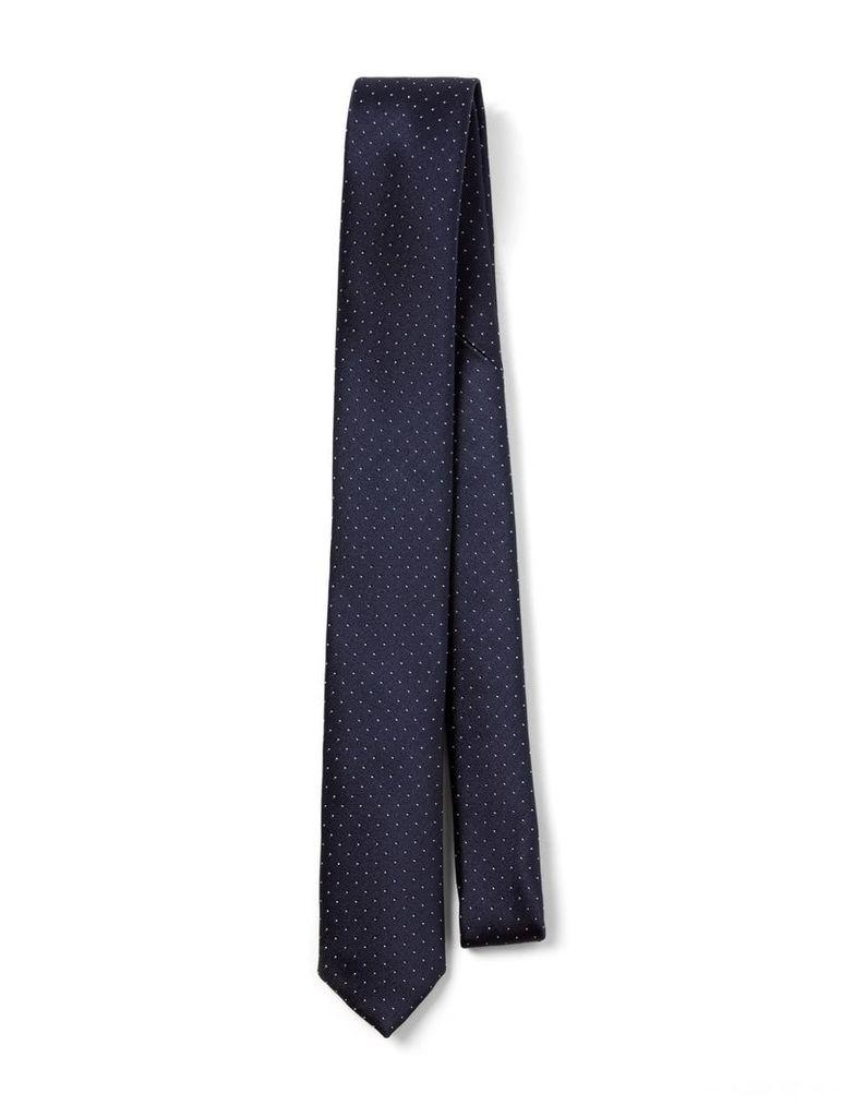 Dot Silk Tie in Navy