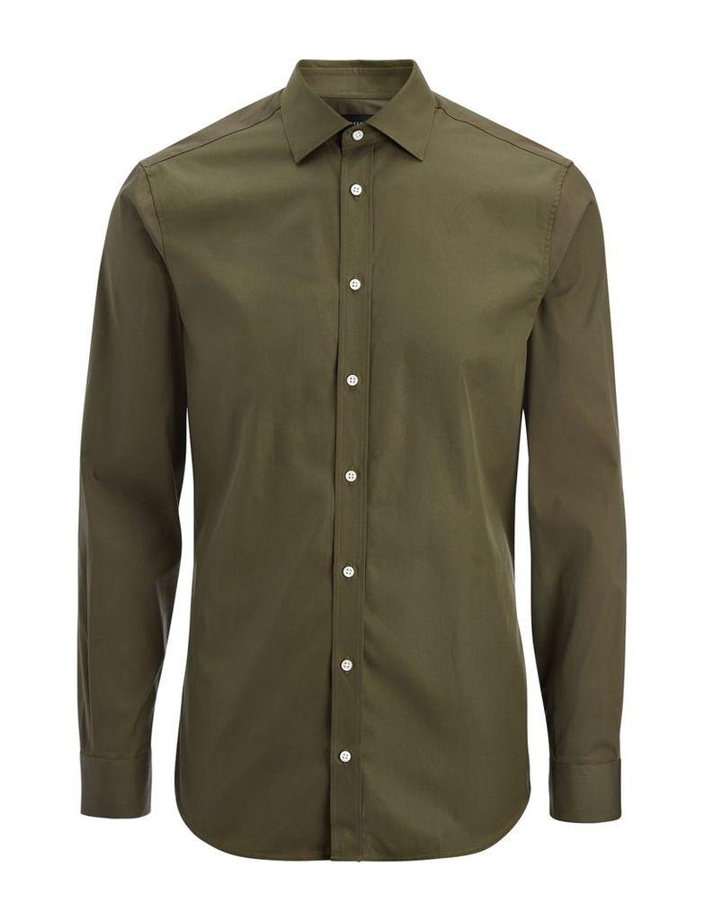 Poplin + Poplin Stretch Cecil Shirt in Khaki