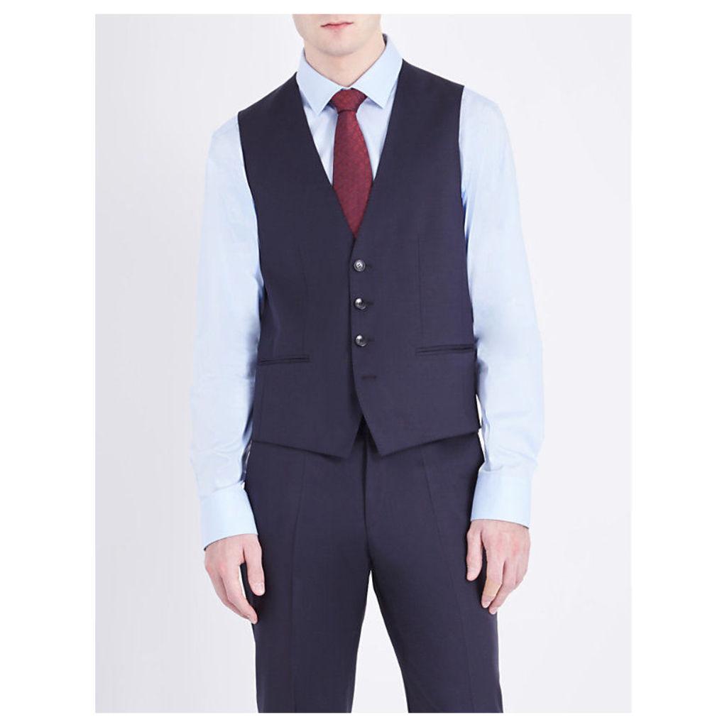 Hugo Boss Wilson wool waistcoat, Mens, Size: 06/02/1900, Dark blue