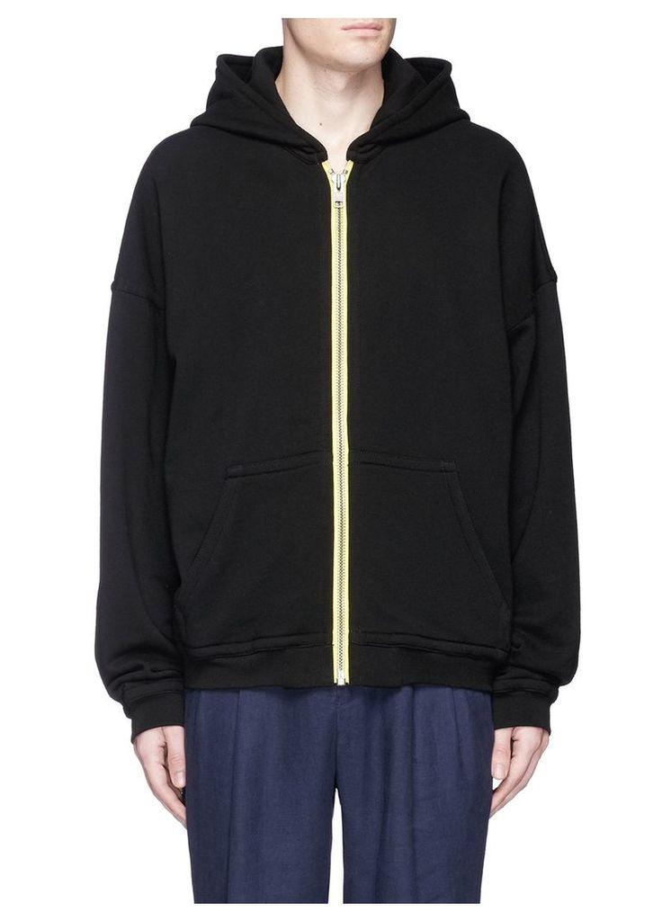 Oversized cotton zip hoodie