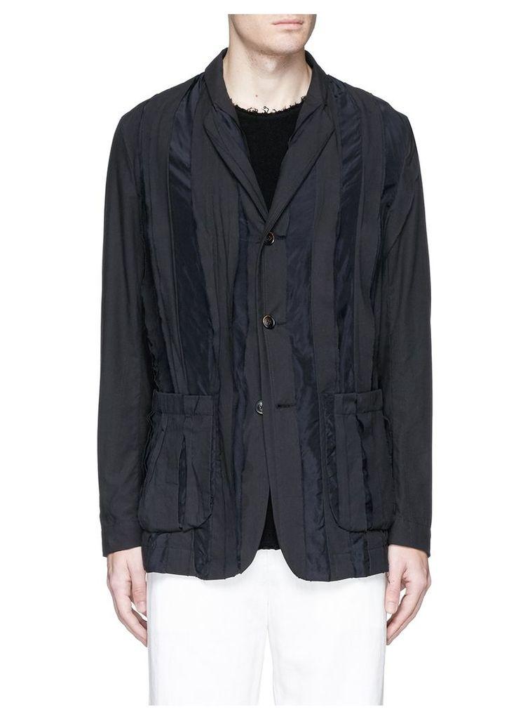 'Din' raw trim soft blazer