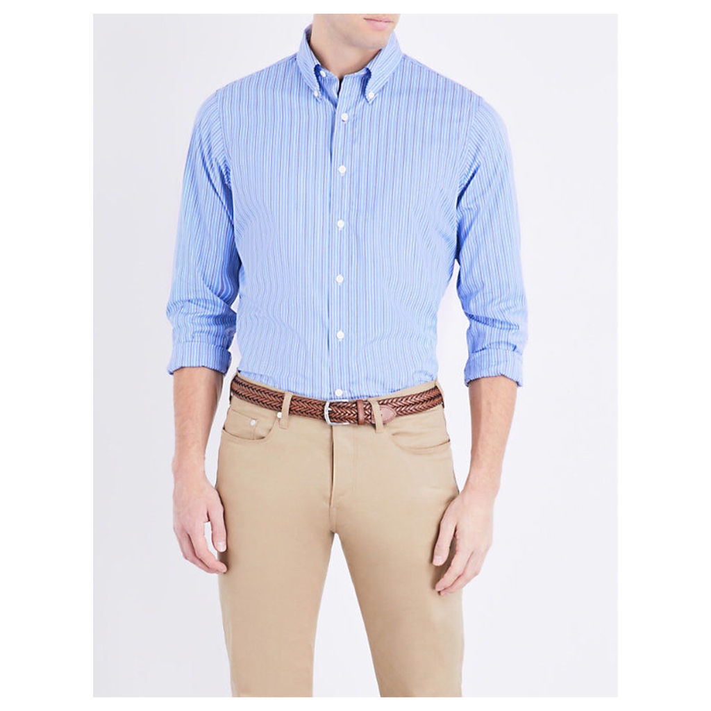 Polo Ralph Lauren Regular-fit cotton shirt, Mens, Size: XL, Blue white