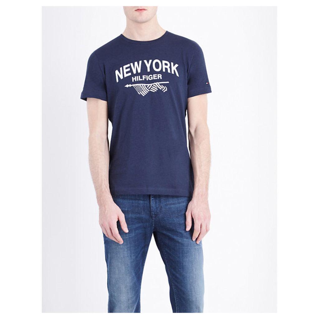 Pando brand logo cotton-jersey T-shirt
