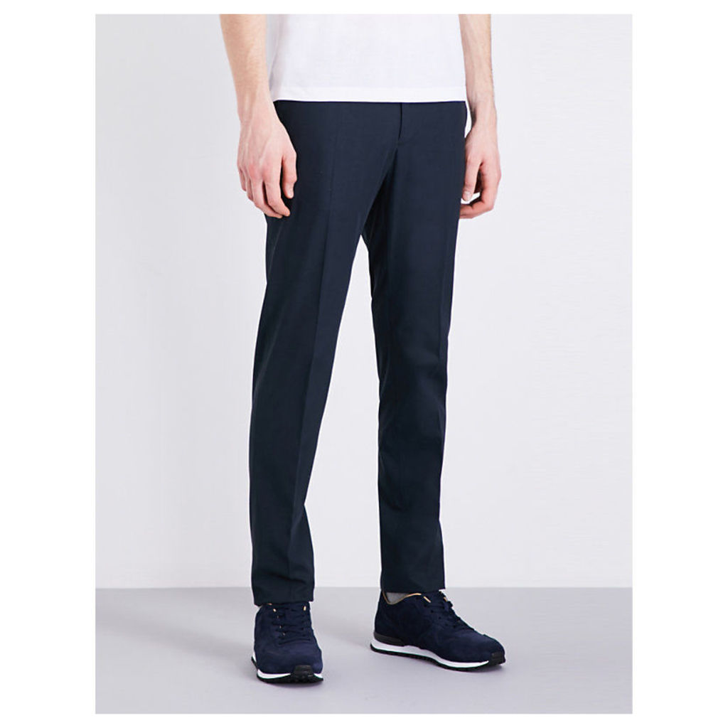 Slowear Icegab slim-fit tapered stretch-cotton trousers, Mens, Size: 32, Navy