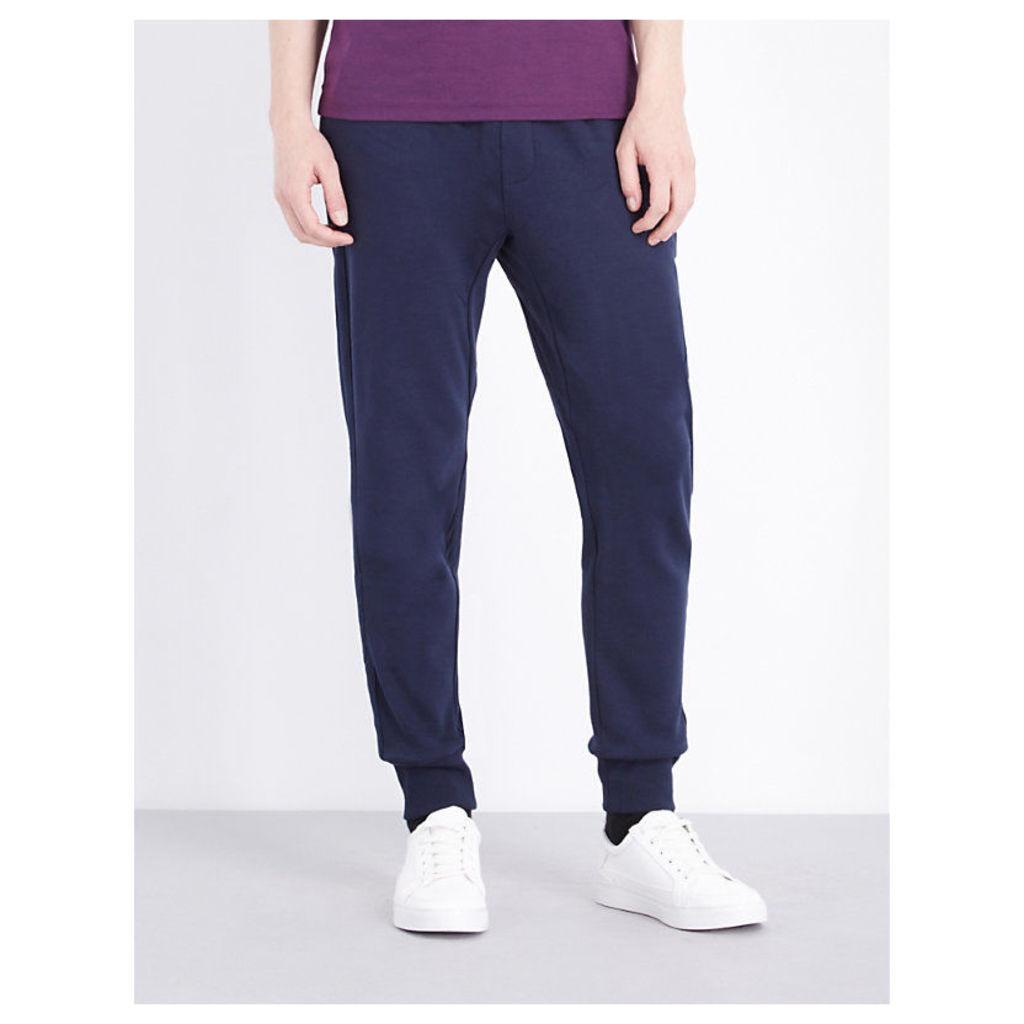 Michael Kors Slim-fit cotton-jersey jogging bottoms, Mens, Size: M, Midnight