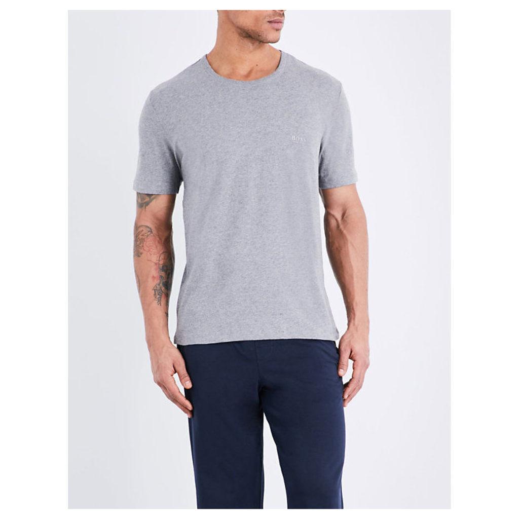 Hugo Boss Crewneck pack of three cotton-jersey t-shirts, Mens, Size: M, White black grey