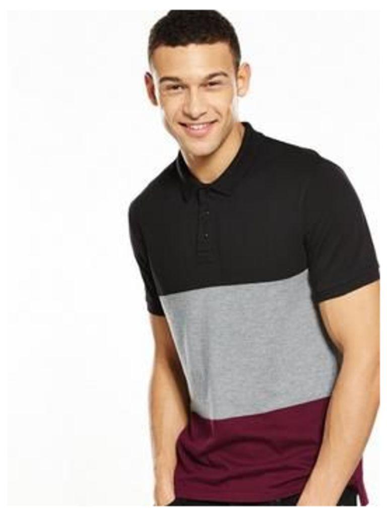 V By Very Colourblock Polo T-Shirt