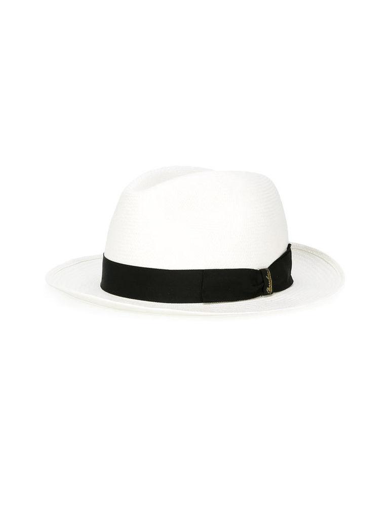Borsalino Fine panama hat, Men's, Size: 59, Black