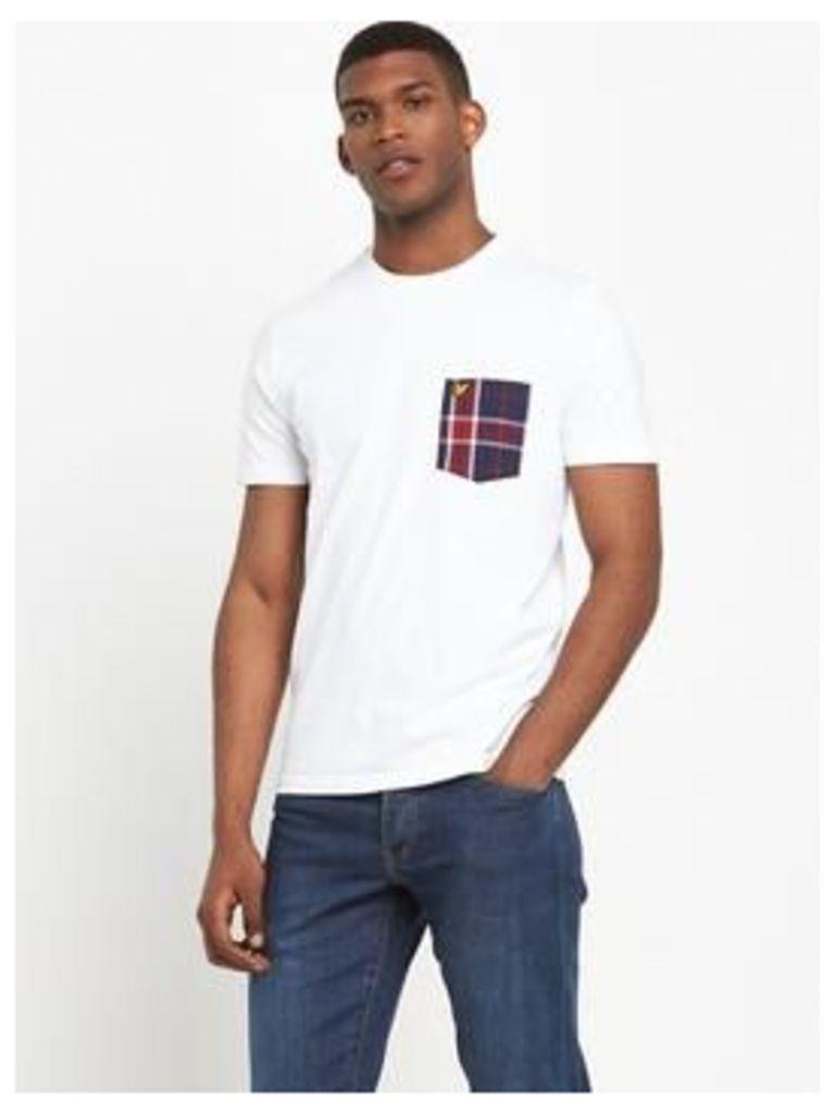 Lyle & Scott Check Woven Pocket T-Shirt