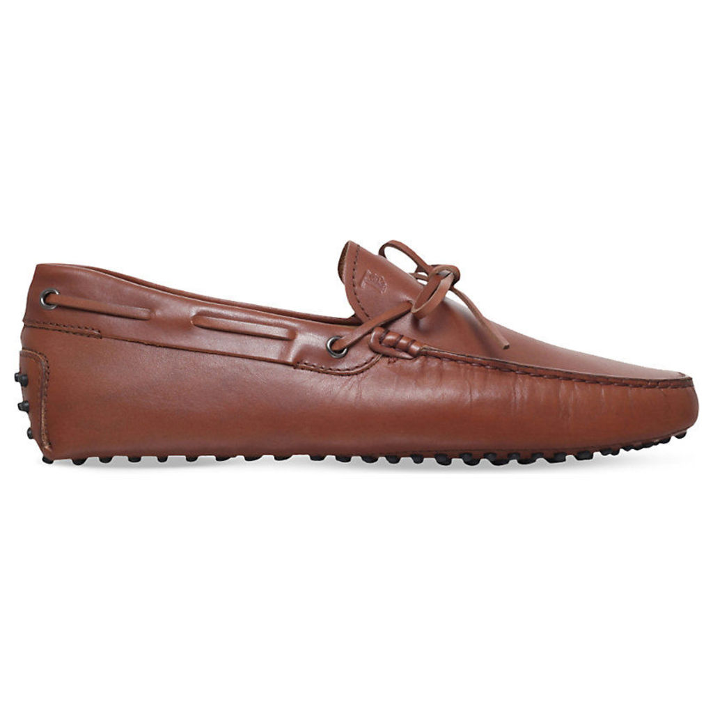 Tods 122 leather driver loafers, Mens, Size: EUR 43 / 9 UK MEN, Tan