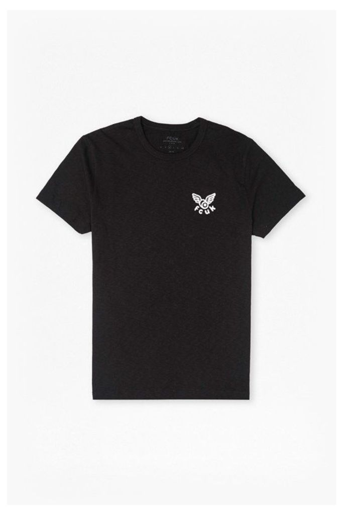 WASTED YOUTH GRAPHIC PRINT T-SHIRT - Black/White