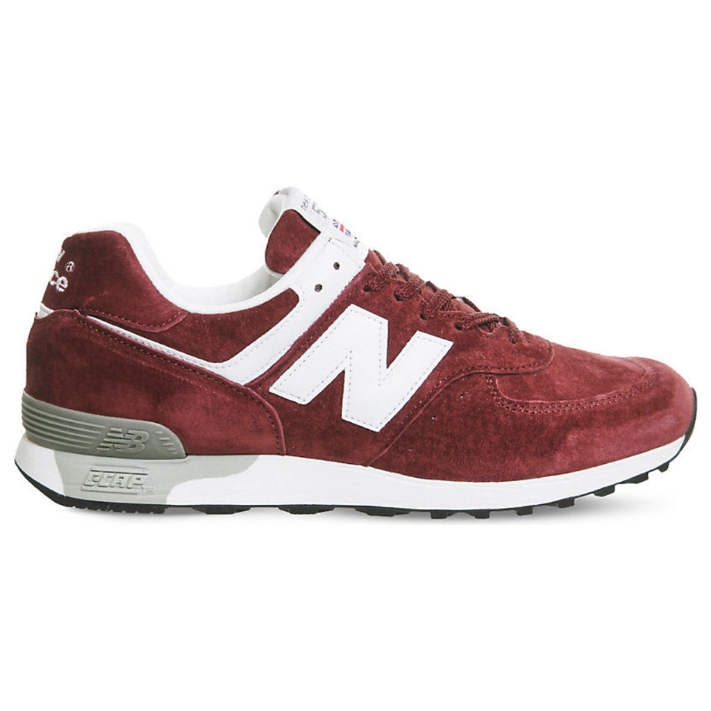 New Balance 576 low-top suede trainers, Mens, Size: 10, Burgundy white miuk