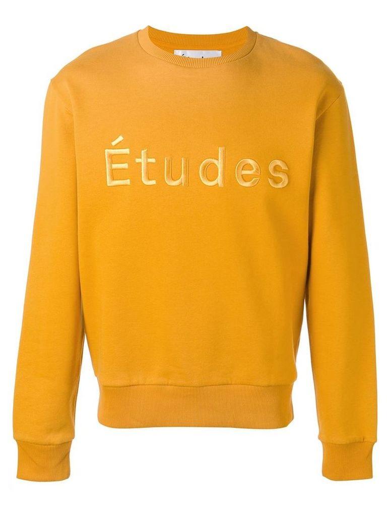 Études logo sweatshirt, Men's, Size: XS, Yellow/Orange