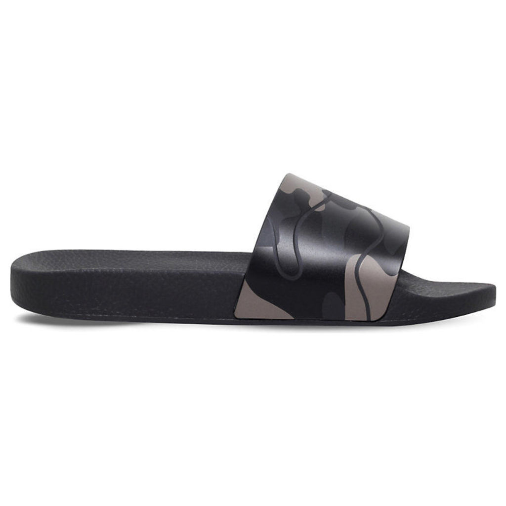 Valentino Camo-print rubber slider sandals, Mens, Size: EUR 42 / 8 UK MEN, Blk/other