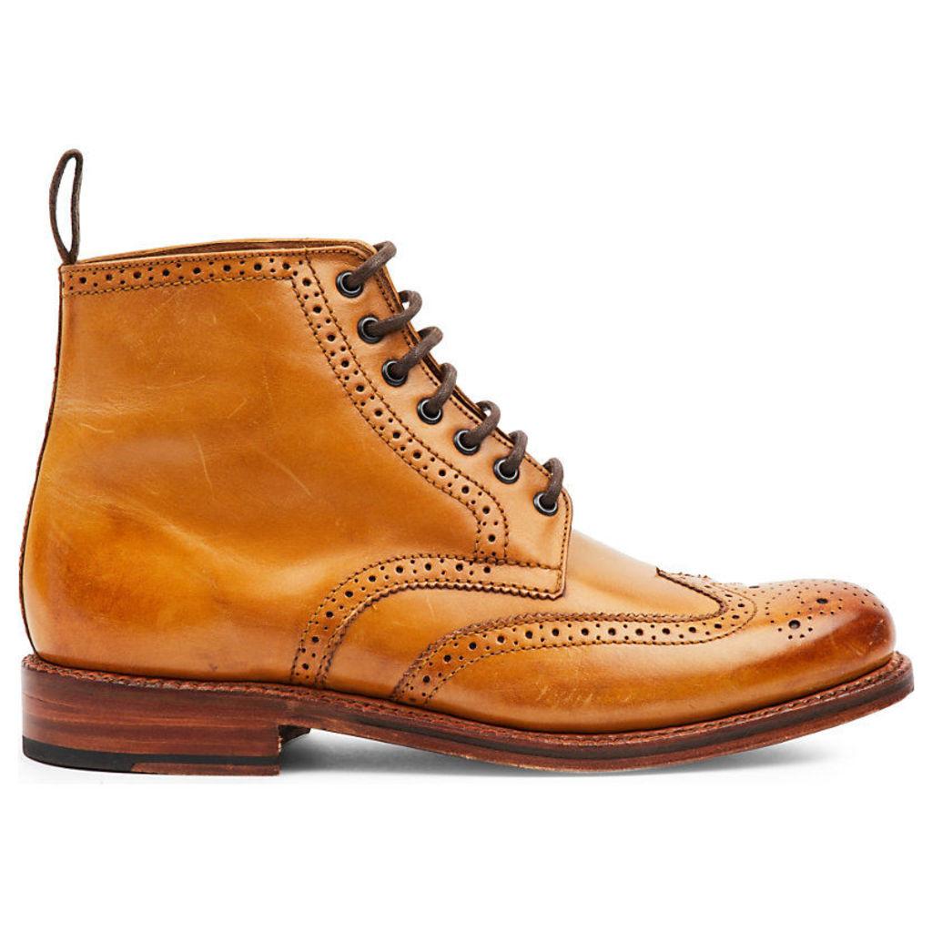 Sharp brogue boots