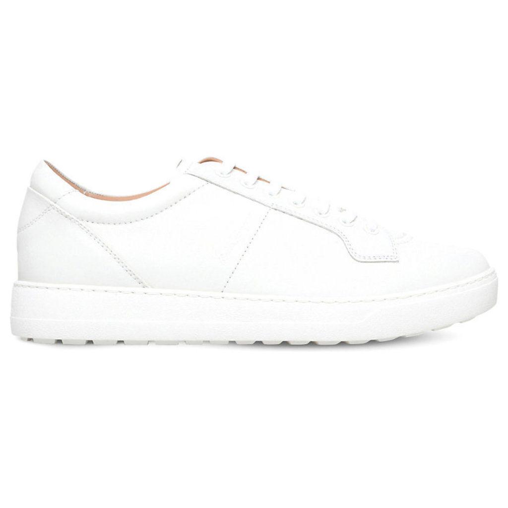 Salvatore Ferragamo Glamour lace-up leather trainers, Mens, Size: EUR 42 / 8 UK MEN, White