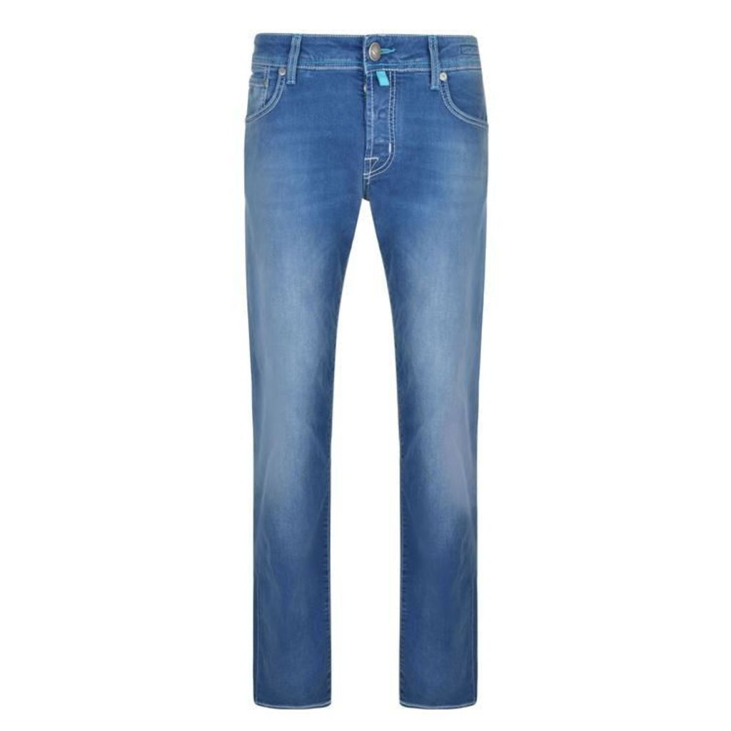 JACOB COHEN White Badge Slim Fit Jeans