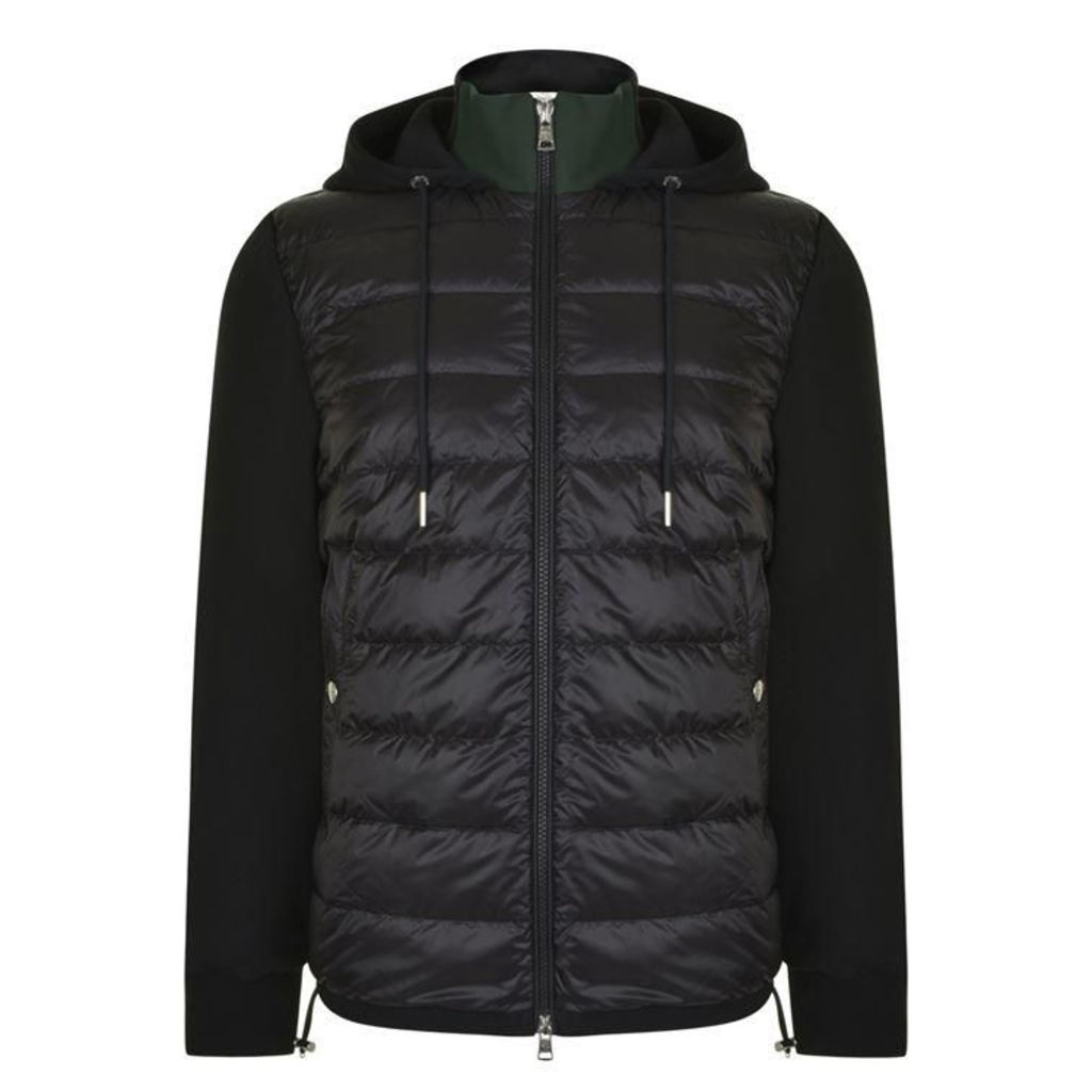 MONCLER Quilted Front Hooded Sweatshirt
