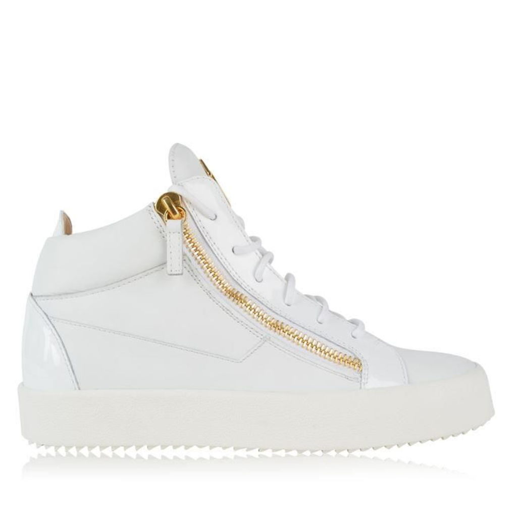 GIUSEPPE ZANOTTI May Leather Zip High Top Trainers