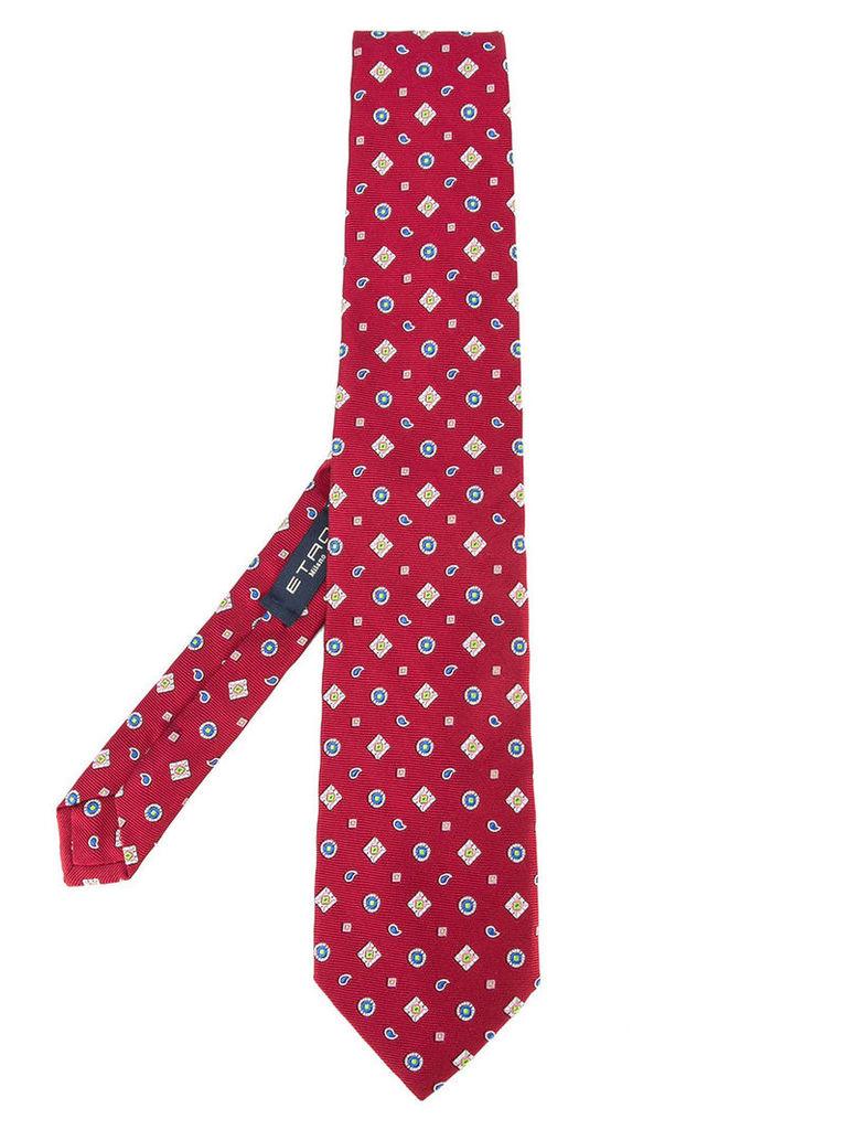 Etro patterned tie, Men's, Red