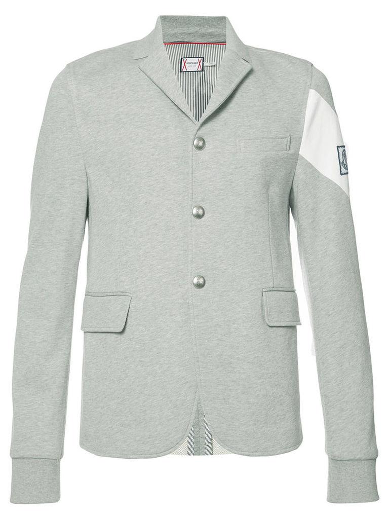 Moncler Gamme Bleu casual blazer, Men's, Size: Large, Grey