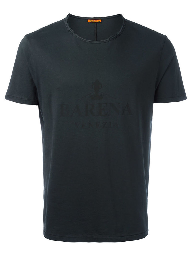 Barena tonal print T-shirt, Men's, Size: Large, Black